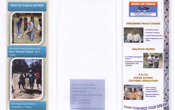 Original brochure - outside